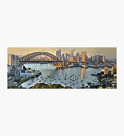 Morning Light - Sydney Harbour(50 Exposure HDR Pano) -The HDR Experience Photographic Print