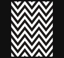Half Black and White Chevron Pattern with Green Turquoise Color Kids Clothes