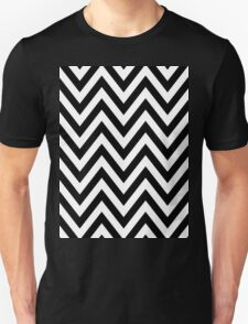 Half Black and White Chevron Pattern with Green Turquoise Color T-Shirt