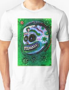 day of the dead White Sugar Skull with flowers T-Shirt