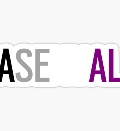 Asexual - Horizontal Sticker
