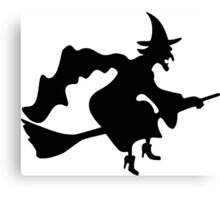 Witch Silhouette Canvas Print