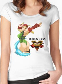Street Fighter 5: Cammy Women's Fitted Scoop T-Shirt