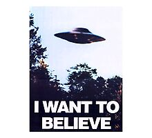X FILES - I want to believe Photographic Print