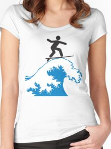 Artistic Surfing Women's Fitted Scoop T-Shirt