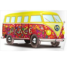 PEACE Van Art Poster