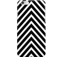 Black and White Chevron Pattern iPhone Case/Skin