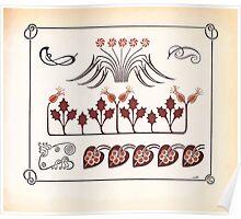 Maurice Verneuil Georges Auriol Alphonse Mucha Art Deco Nouveau Patterns Combinaisons Ornementalis 0055 Poster