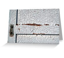 White Decay Greeting Card