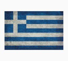 Flag of Greece - Retro vintage One Piece - Long Sleeve