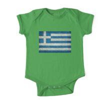 Flag of Greece - Retro vintage One Piece - Short Sleeve