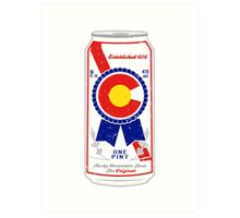 Colorado Blue Ribbon Art Print