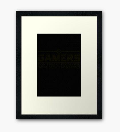 Gamer (Ligt Background) Framed Print