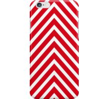 Red Chevron Pattern iPhone Case/Skin