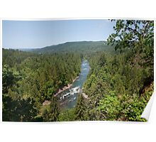 Snoqualmie River, Washington Aerial View Poster