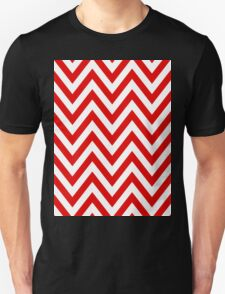 Red Chevron Pattern T-Shirt