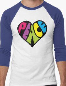 Peace Heart Men's Baseball ¾ T-Shirt