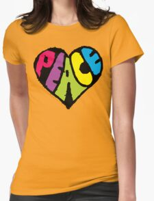 Peace Heart Womens Fitted T-Shirt