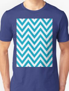 Half Blue and White Chevron Pattern with Yellow Color T-Shirt