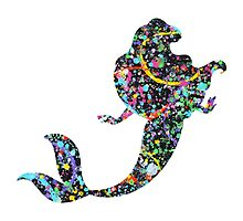 Abstract Ariel The Little Mermaid Silhouette by HerkDesigns