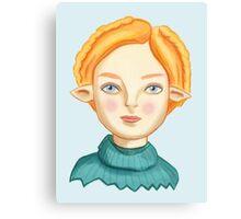 Helga The Blonde Elf Canvas Print