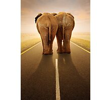 Conceptual - Going away together / travel by road Photographic Print