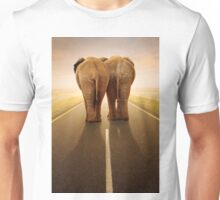 Conceptual - Going away together / travel by road Unisex T-Shirt