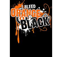 I Bleed Orange and Black Photographic Print
