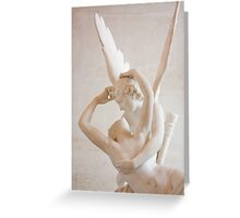 Psyche revived by Cupid's kiss Greeting Card
