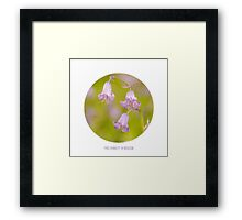 Find Humility in Wisdom Framed Print