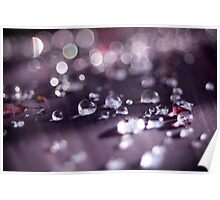 GLASSY DROPLETS Poster