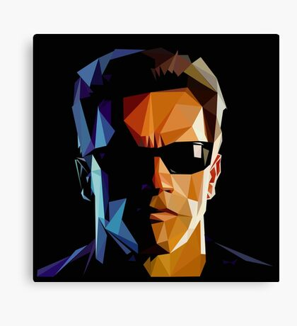 Terminator Triangulation Vector Canvas Print