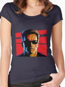 Terminator Triangulation Vector Women's Fitted Scoop T-Shirt
