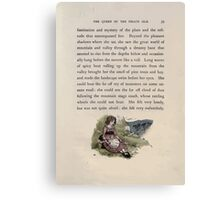 The Queen of Pirate Isle Bret Harte, Edmund Evans, Kate Greenaway 1886 0043 Hillside With Doll Canvas Print