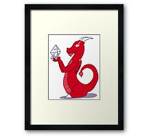 Dice Dragon Framed Print