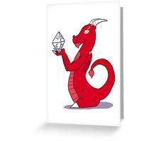 Dice Dragon Greeting Card