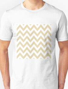 Beige Chevron Pattern T-Shirt