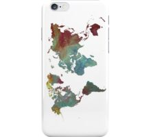 World Map after dark iPhone Case/Skin