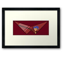 Kamina Glasses on a Thing for Cool Dudes and Dudes that are Girls Framed Print