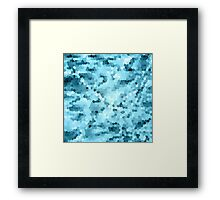 Cold Water Mosaic Framed Print