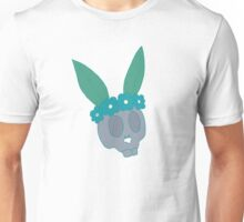 Bunny Flower Crown Skull Unisex T-Shirt