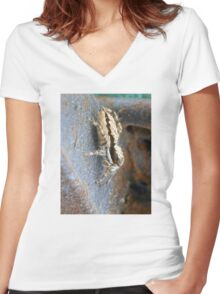 ©NS A Spider Life L You Again IIIA. Women's Fitted V-Neck T-Shirt