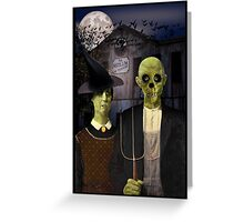 American Gothic Halloween Greeting Card