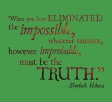 Sherlock Holmes - Eliminate the Impossible Kids Tee