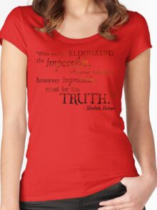 Sherlock Holmes - Eliminate the Impossible Women's Fitted Scoop T-Shirt