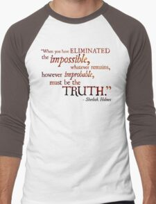 Sherlock Holmes - Eliminate the Impossible Men's Baseball ¾ T-Shirt