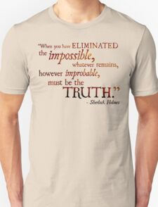 Sherlock Holmes - Eliminate the Impossible Unisex T-Shirt