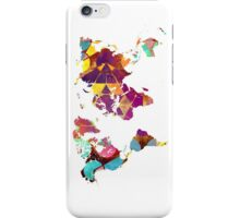 Map of the world geometric colored iPhone Case/Skin