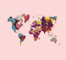 Map of the world geometric colored Kids Clothes