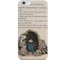 The Queen of Pirate Isle Bret Harte, Edmund Evans, Kate Greenaway 1886 0039 Cave iPhone Case/Skin
